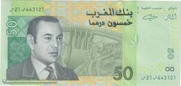 TWN - MOROCCO 69a - 50 Dirhams 2002 Prefix ﺭ21ﺱ UNC - Marocco