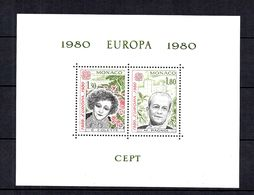 Monaco Bloc Spécial Europa 1980 YT N° 13 Neuf ** MNH. TB. A Saisir! - Blocks & Sheetlets