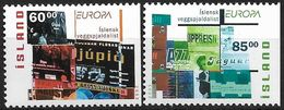 2003  Island Mi.  1038-9 DR   **MNH  Europa: Plakatkunst - Europa-CEPT