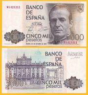 Spain 5000 Pesetas P-160 1979 UNC Banknote - España