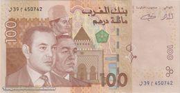 TWN - MOROCCO 70 - 100 Dirhams 2002 Prefix ﺍ39ﻭ UNC - Marokko