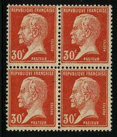FRANCE - YT 173 * X4 - PASTEUR - 1 BLOC DE 4 TIMBRES NEUFS * - 1922-26 Pasteur