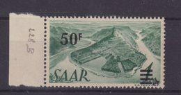 SARRE : N° 228A ** . BDF . SIGNE BRUN . 1947 . ( CATALOGUE YVERT ) . - Ungebraucht