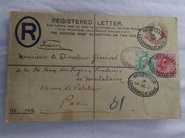1905 - Leadennhall St. B.O.E.C Vers Paris - Entier Postal Recommandé - - Storia Postale