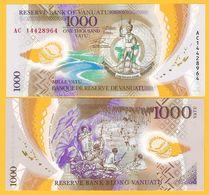 Vanuatu 1000 Vatu P-13 2014 UNC Polymer Banknote - Vanuatu