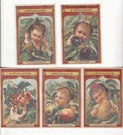 Chromo  A PYGMALION    Lot De 5    Enfants Et Fruits     10.8 X 7.3 Cm - Sonstige