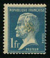 FRANCE - YT 179 * - PASTEUR - 1 TIMBRE NEUF * - 1922-26 Pasteur