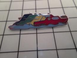 316b Pin's Pins / Rare & Belle Qualité !!! THEME BATEAUX / 4 BATEAUX MULTICOLORES - Boats