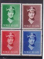 #12196 Norway, Norge 1939 Full Set  MNH, Michel 203 - 206: Queen Maud - Children Found - Nuovi