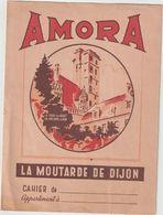 V P   Buvard - Protège  Cahier: AMORA   , Dijon   ,la Moutarde( La Tour Du Guet De Philippe Le Bon ) - Papel Secante