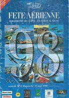 Programme Du Meeting Aérien 1998 à LA FERTE-ALAIS - 1998. - Transporto