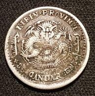 RARE - CHINE - CHINA - 3.6 CANDAREENS 1899 - Argent - Silver - Guangxu - KM 179 - 亥 己 Y#179.1 - China