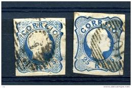 Portugal  :  Yv  6-6a  (o) - 1855-1858 : D.Pedro V