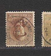 COB 174 Oblitération Centrale Télégraphe BRUXELLES (NORD) - 1919-1920 Behelmter König