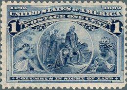 1893 Stati Uniti, Esposizione Mondiale Cristoforo Colombo Di Chicago, Valore 1 Cent. Con Gomma Integra With Gum (**) - 1847-99 General Issues