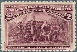 1893 Stati Uniti, Esposizione Mondiale Cristoforo Colombo Di Chicago, Valore 2 Cent. Con Gomma Integra With Gum (**) - 1847-99 General Issues