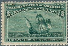 1893 Stati Uniti, Esposizione Mondiale Cristoforo Colombo Di Chicago, Valore 3 Cent. Con Gomma Integra With Gum (**) - 1847-99 General Issues