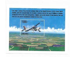 Tanzania 1999 Airplanes S/S MNH - Tanzania (1964-...)
