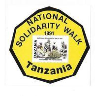 Tanzania 1991 National Solidarity Walk S/S MNH - Tanzania (1964-...)