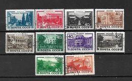 URSS - 1949 - N. 1356/65 USATI (CATALOGO UNIFICATO) - Oblitérés
