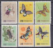 Taiwan N° 249 / 54 X Insectes Et Papillons Divers, La Série Des 6 Valeurs Trace De Charnière, TB - 1945-... République De Chine