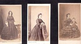 CDV BURGAUD à ROCHEFORT : 6 Portraits Vintage Albumen Circa 1860 - Ancianas (antes De 1900)