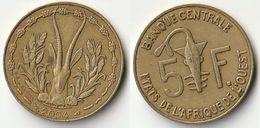 Pièce De 5 Francs CFA XOF 2004 Origine Côte D'Ivoire Afrique De L'Ouest - Ivory Coast