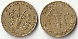 Pièce De 5 Francs CFA XOF 2009 Origine Côte D'Ivoire Afrique De L'Ouest - Ivory Coast