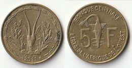 Pièce De 5 Francs CFA XOF 2011 Origine Côte D'Ivoire Afrique De L'Ouest - Côte-d'Ivoire