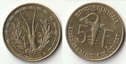 Pièce De 5 Francs CFA XOF 2012 Origine Côte D'Ivoire Afrique De L'Ouest - Ivory Coast