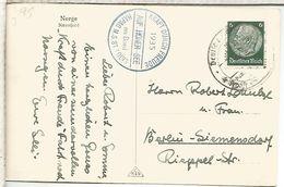 ALEMANIA 1935 TP NORGE MAT NAVAL BUQUE HAPAG MS ST LOUIS DE LA KDF ORGANIZACION DEL PARTIDO NAZI - Ships