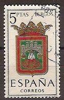 ESPAÑA SEGUNDO CENTENARIO USADO Nº 1414 (0) 5P BURGOS ESCUDOS - 1931-Oggi: 2. Rep. - ... Juan Carlos I