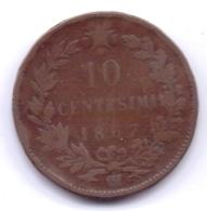 ITALIA 1867 OM: 10 Centesimi, KM 11 - 1861-1946 : Regno