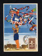 """SUR CARTE POSTALE """"TIMBRE DE 1947 JAMBOREE MONDIAL A MOISSON"""" CAHET JAMBOREE MONDIAL DE LA PAIX DU 9/08/1947 - ETAT** - Scoutisme"""