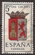 ESPAÑA SEGUNDO CENTENARIO USADO Nº 1415 (0) 5P CACERES ESCUDOS - 1931-Oggi: 2. Rep. - ... Juan Carlos I