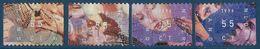 NVPH 1702-1705 - 1996 - Decemberzegels (doorloper) - 1980-... (Beatrix)