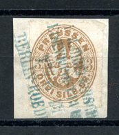 Preussen, Germany, 1861, 3 Sgr., Eagle, Used On Paper, Michel 18 - Prussia