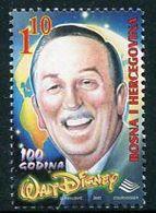 BOSNIA HERCEGOVINA (Sarajevo) 2001 Walt Disney Centenary MNH / **.  Michel 226 - Bosnia Herzegovina