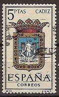 ESPAÑA SEGUNDO CENTENARIO USADO Nº 1416 (0) 5P CADIZ ESCUDOS - 1931-Oggi: 2. Rep. - ... Juan Carlos I
