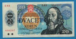CZECHOSLOVAKIA  20 Korun 1988 # E83  400927  P# 95a  Ján Amos Koménsky - Cecoslovacchia