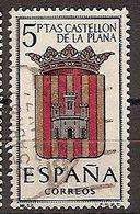ESPAÑA SEGUNDO CENTENARIO USADO Nº 1417 (0) 5P CASTELLON ESCUDOS - 1931-Oggi: 2. Rep. - ... Juan Carlos I