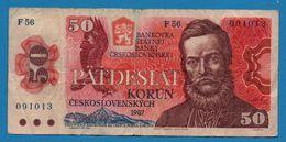 CZECHOSLOVAKIA  50 Korun 1987 # F56  091013  P# 96a Ludovít Štúr - Cecoslovacchia