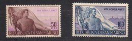 Saint-Marin San Marino 1948 Yvertn° 317-318  (*) MLH Cote 64 € N° 317 Roestplekje - Saint-Marin