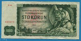 CZECHOSLOVAKIA  100 Korun 1961 # X66  623278  P# 91j - Cecoslovacchia