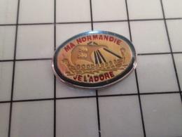 316b Pin's Pins / Rare & Belle Qualité !!! THEME BATEAUX / VOILE VOILIER VIKING DRAKKAR NORMAND MA NORMANDIE JE L'ADORE - Barcos