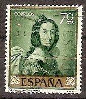 ESPAÑA SEGUNDO CENTENARIO USADO Nº 1419 (0) 40C MALVA OSCURO ZURBARAN - 1931-Oggi: 2. Rep. - ... Juan Carlos I