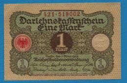 DEUTSCHES REICH 1 MARK 01.03.1920  # 412.518002   P# 58  DARLEHENSKASSENSCHEIN - [ 3] 1918-1933 : República De Weimar