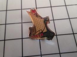 316b Pin's Pins / Rare & Belle Qualité !!! THEME BATEAUX / VOILE VOILIER VIKING DRAKKAR NORMAND MARQUE TSEIN SUR LA COQU - Barcos
