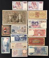 Malaysia France China Italia Indonesia Singapore Jugoslavia Polska Finland Germany 14 Banknotes LOTTO 109 - [ 4] Emisiones Provisionales