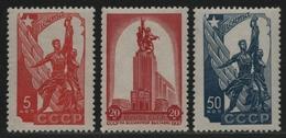 Russia / Sowjetunion 1938 - Mi-Nr. 581-583 ** - MNH - Weltausstellung (I) - Nuevos